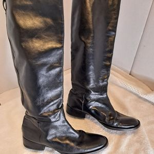 Dolce Vita Size 8.5-9 Black Leather Knee High Boots
